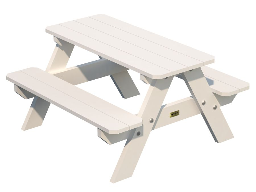 Lisbet Picnic Bench White Rhf Garden Buildings And